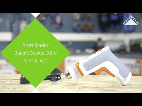 Atornillador Black & Decker 3.6V PORTA-ACC – LEROY MERLIN