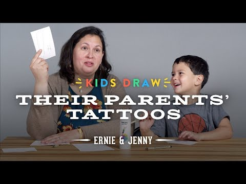 Ernie Designs a Tattoo for His Mom | Kids Draw | Cut