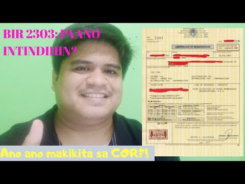 Usapang Negosyo: BIR 2303 - Certificate Of Registration | Introduction