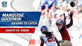 Marquise Goodwin Goes 83 Yards on Huge TD Pass from C.J. Beathard! | Giants vs. 49ers | NFL Wk 10