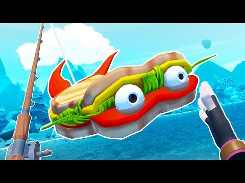 Eating the SANDWICH FISH! - Crazy Fishing Gameplay - VR HTC Vive Pro