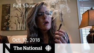 The National for October 12, 2018 — Saudi Journalist, Pot Legal Challenges, Pop Panel