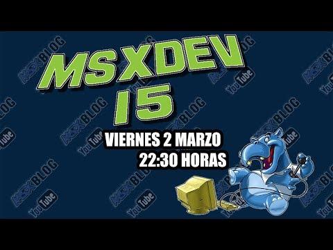Los videojuegos de MSXdev'15 - MSX homebrew