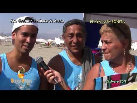 SUPER ESTATUS - ESCULTURA DE ARENAS 2013 - PLAYA ASIA BONITA