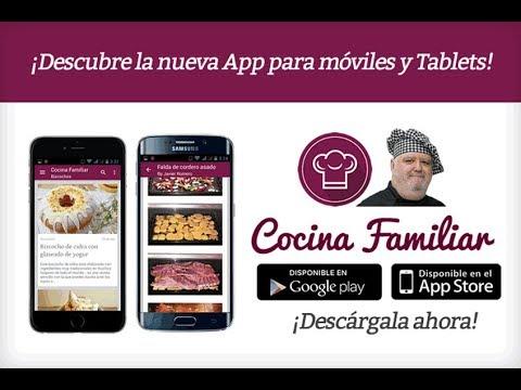 Descarga gratis en tu móvil o tablet la APP con todas mis recetas de cocina
