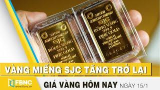 Giá vàng hôm nay 15/1 | Vàng miếng SJC tăng trở lại | FBNC