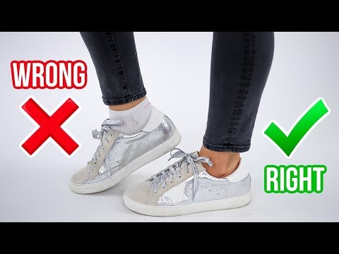 Video: 8 Ways You're Wearing Shoes WRONG! *how to fix*