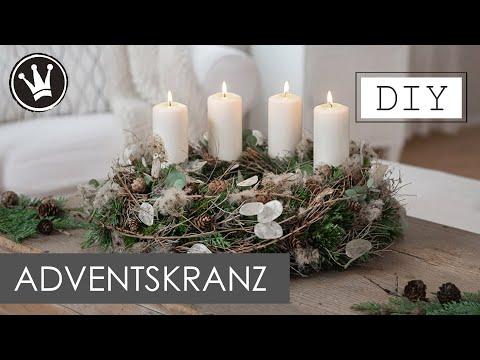 DIY – Adventskranz selber binden | Trend 2020 Trockenblumen | genaue Anleitung | DekoideenReich