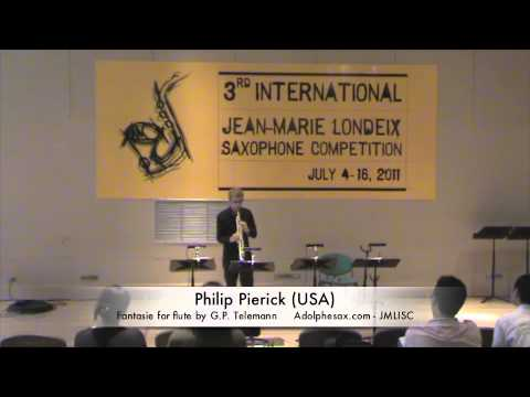 3rd JMLISC: Philip Pierick (USA) Fatasie for flute by G.P. Telemann