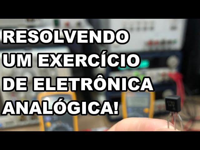 EXERCÍCIO RESOLVIDO! TRANSISTOR NPN E PNP EM ÁUDIO