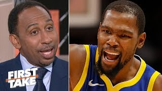 I don't blame Kevin Durant for clapping back at critics on Twitter – Stephen A.   First Take