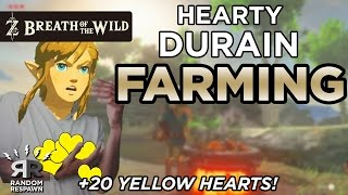 Zelda: Breath of the Wild - Hearty Durian Farming (Easy +20 Yellow Hearts!)