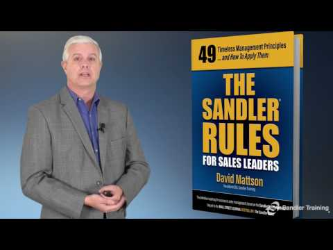The Sandler Rules for Sales Leaders Introduction