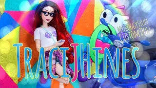 DIY - How to Make: TraciJHines Hipster Mermaid Custom Doll | Ombre Hair | Graphic Tee & More