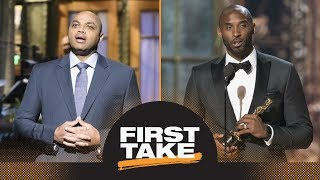 First Take reacts to Charles Barkley's and Kobe Bryant's SNL and Oscars comments | First Take | ESPN
