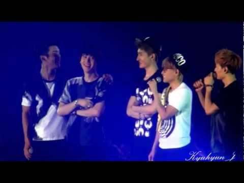 [FANCAM] 20130616 SS5 IN HONG KONG TALK - RYEOWOOK BIRTHDAY SUPER JUNIOR KYUHYUN FOCUED super show 5