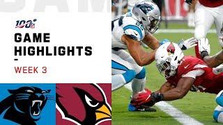 Panthers vs. Cardinals Week 3 Highlights | NFL 2019