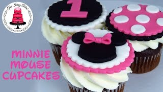 Minnie Mouse Cupcake Toppers - How To With The Icing Artist