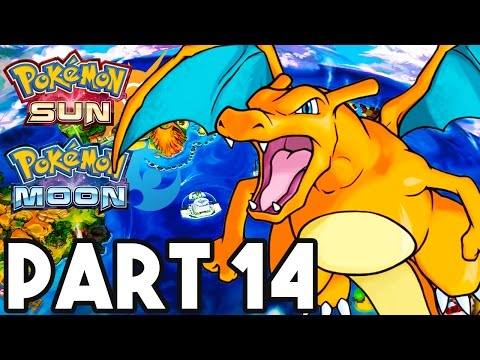Pokemon Sun and Moon Gameplay Walkthrough Part 14 - RIDING CHARIZARD!! (3DS Pokemon Sun Gameplay)