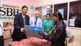 State Bank Of Hyderabad Donates Laptops To Blind Students - Hybiz.tv