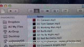 Putting iTunes music onto a Garmin GPS.