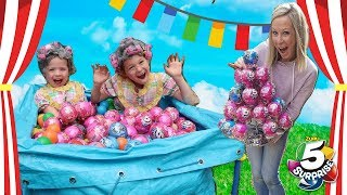 Super Cool Carnival Silly Kids Get TONS of 5 Surprise Toys!!!
