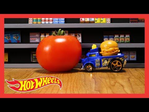 """HW FAST FOODIE in """"FAST FOODIE CHALLENGE!""""   Hot Wheels"""