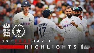 England Bowled Out For 183 | England v India - Day 1 Highlights | 1st LV= Insurance Test 2021