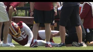 Reuben Foster Gets Carted Off After 3 Plays in OTA's - Redskins News