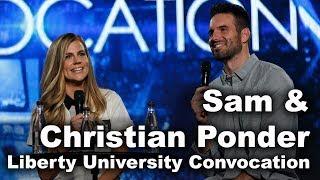Sam and Christian Ponder - Liberty University Convocation