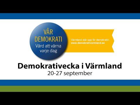 """Invigning av Demokratistugan samt samtal med rubriken """"What happened in Värmland last night?"""""""