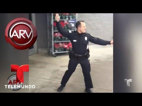 Policía se hace viral con su baile navideño   Al Rojo Vivo   Telemundo