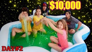 LAST TO LEAVE SLIME POOL WINS $10,000.00 day#2   SISTER FOREVER