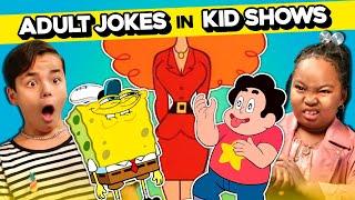 Kids React To Adult Jokes In Kids' Shows (SpongeBob, Animaniacs, Steven Universe & More!)