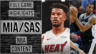 Miami Heat vs San Antonio Spurs  Full Game Extended Highlights 2019 NBA Preseason