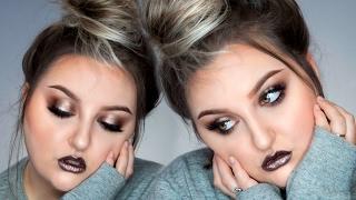 COOL TONED SMOKEY EYE | NEW Makeup Geek Foiled Pigments & Glosses - Talk Thru Makeup Tutorial