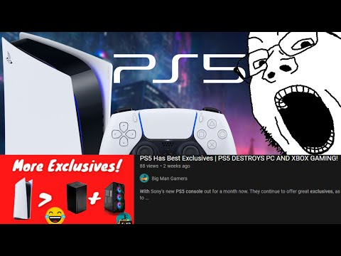 PS5 DESTROYED PC GAMING    Xbox Series X & PC are Complete FAILURES! ...According to Big Man Gamers