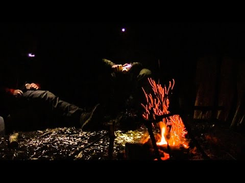 Wildcamp, Bushcraft Campout, Spoon Carving - HD 1080p