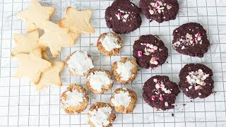 HEALTHY HOLIDAY COOKIES! EASY CHRISTMAS RECIPES!