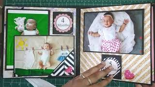 Baby Girl's First Year Handmade Scrapbook | Baby's First Year Record Book