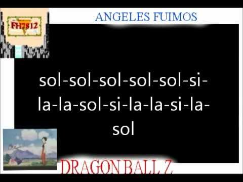 Dragon ball Z Angeles Fuimos Flauta Dulce
