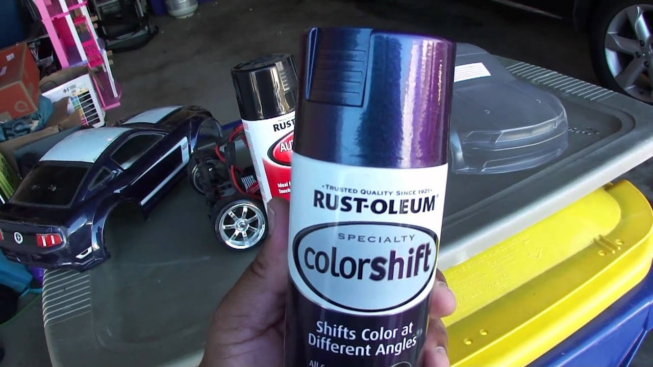 Rattle Can Paint Job >> Traxxas R/C Mustang Boss 302 VXL ColorShift Paint Job Vid 1 of 4 - YouTube