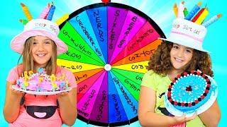 MYSTERY WHEEL OF CAKE CHALLENGE - TWINS BIRTHDAY!!!
