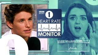 Maisie Williams HEART RATE MONITOR feat. Eddie Redmayne | GAME OF THRONES 'SPOILERS' (!?)