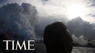 See Lava From Hawaii's Volcano Spew Into The Ocean And Create Toxic 'Laze' | TIME