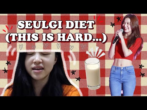 I TRIED RED VELVET SEULGI DIET | KPOP IDOL DIET