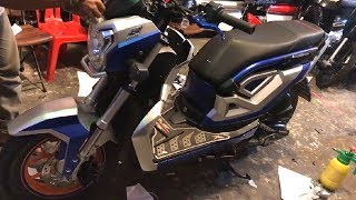 Honda Zoomer X Best color new sticker in cambodia Video - KS