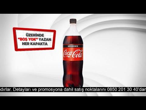 BOŞ YOK! Beyaz Kapaklarda 1 lt Coca-Cola Şekersiz Hediye! #TadınıÇıkar