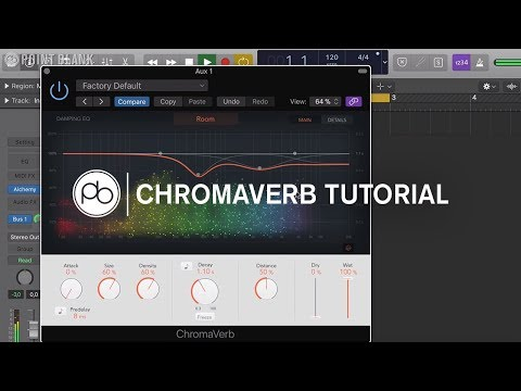 Logic Pro Tutorial : Overview of ChromaVerb Reverb plugin