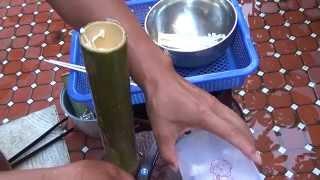 Cook Bamboo Rice, Bamboo Pacific Saury, Bamboo Pork, Bamboo Chicken, Bamboo Enoki Mushroom